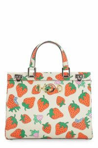 Gucci Zumi Printed Leather Handbag