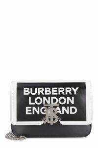 Burberry Leather Tb Shoulder Bag