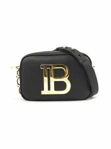 Balmain Black Leather Shoulder Bag