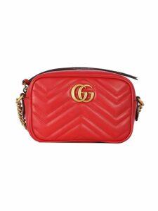 Gucci Camera Bag Mini Gg Marmont Matelasse` With Upper Zip Closure