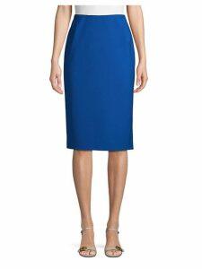 Slim-Fit Wool Blend Pencil Skirt