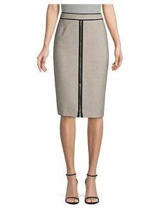 Modern Check Pencil Skirt