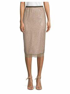 Sheer Midi Skirt