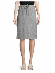 A-Line Wool Blend Sweater Skirt