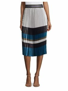 Tamsen Striped Pleated Skirt
