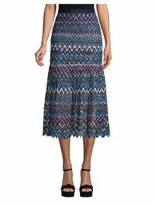 Chevron Lace Skirt