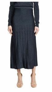 Cushnie High Waisted Pleated Knit skirt