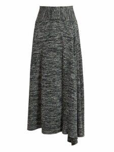 Bottega Veneta - Melange Jersey Skirt - Womens - Grey Multi