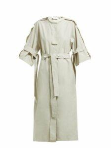Lemaire - Belted Cotton Blend Dress - Womens - Light Grey