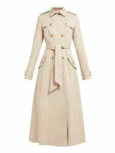 Gabriela Hearst - Casatt Double Breasted Cotton Trench Coat - Womens - Beige