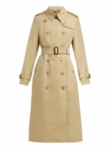 Burberry - Chelsea Double Breasted Cotton Trench Coat - Womens - Beige