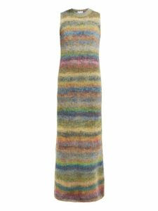 Raey - Striped Hand Painted Knitted Dress - Womens - Multi