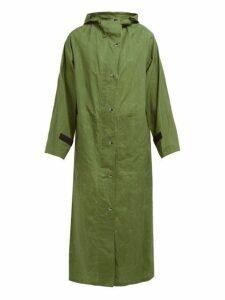 Kassl Editions - Parachut Hooded Cotton Raincoat - Womens - Green