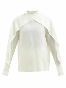 Marques'almeida - Ostritch Feather Spray Cotton Cardigan - Womens - Beige