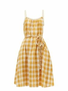 Ace & Jig - Noelle Checked Tie Waist Cotton Dress - Womens - Yellow