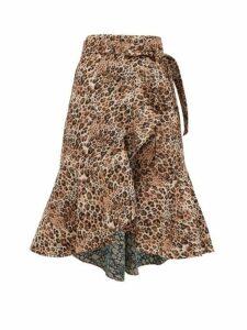 Johanna Ortiz - Cynical Attitude Leopard Jacquard Wrap Skirt - Womens - Leopard