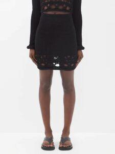 Balenciaga - Draped One Shoulder Jersey Top - Womens - Black