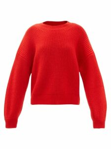 Cecilie Bahnsen - Ruth Floral Beaded Silk Organza Midi Dress - Womens - Blue Multi