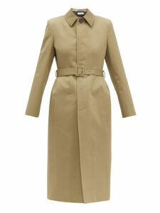 Balenciaga - Hourglass Belted Cotton Gabardine Trench Coat - Womens - Light Beige