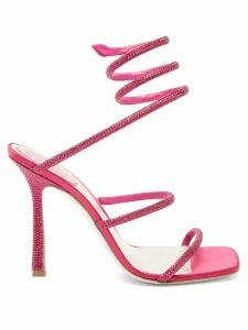 Balenciaga - Bb Print Cotton Poplin Shirtdress - Womens - Pink White