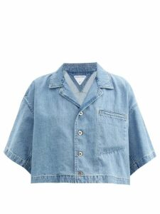 Balenciaga - Logo Tab Velvet Sweater - Womens - Yellow