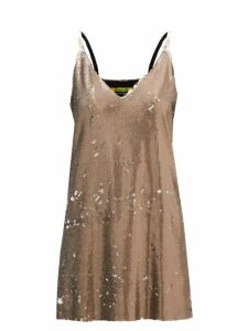 Saloni - Fara Printed Cotton Blend Dress - Womens - Blue Multi