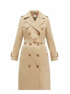 Burberry - Islington Cotton Gabardine Trench Coat - Womens - Beige