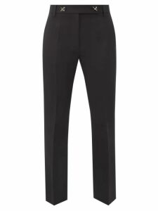 Redvalentino - Drawstring Waist Pleated Brocade Midi Skirt - Womens - Navy