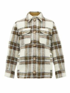 Isabel Marant Étoile - Gaston Oversized Checked Wool Blend Coat - Womens - Ivory Multi