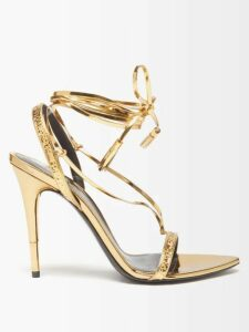 Erdem - Elvin Polka Dot Crepe Midi Skirt - Womens - Navy White