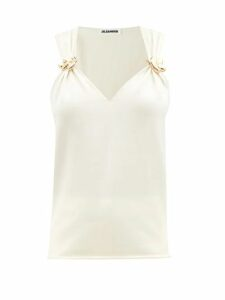 Ganni - Leopard Print Cotton Blend Dress - Womens - Leopard