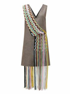 M Missoni - Vintage Scarf Lamé Mini Dress - Womens - Red Multi