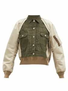 Staud - Mia Striped Terry Coat - Womens - Green Multi