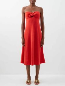 Cecilie Bahnsen - Matilda Floral Guipure Lace Cotton Blend Dress - Womens - Blue Multi