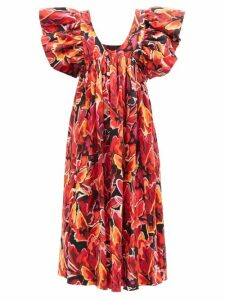 Marni - Paisley Sequinned Dress - Womens - Green Multi