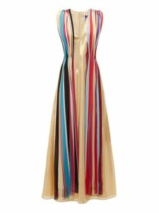 M Missoni - Vintage Scarf Silk Blend Lamé Maxi Dress - Womens - Multi