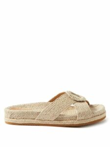 Gucci - Floral Print Cotton Muslin Dress - Womens - Brown Multi