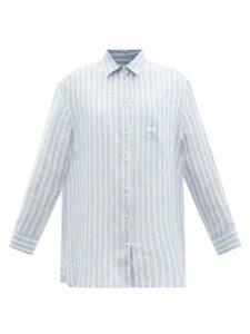 Carolina Herrera - Oleander Floral-print Silk-gazar Gown - Womens - Burgundy Multi