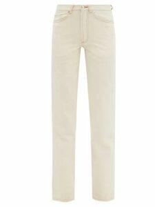 Alexander Mcqueen - Bell Sleeve Peplum Leather Midi Dress - Womens - Black