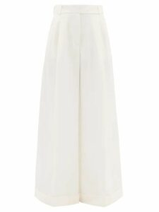 Self-portrait - Gathered Botanical Print Crepe Dress - Womens - Navy Multi