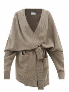 Mm6 Maison Margiela - Logo Print Oversized Cotton Twill Jacket - Womens - Beige
