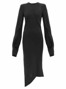 Carolina Herrera - Trumpet Sleeve Tiger Jacquard Opera Coat - Womens - Brown Multi