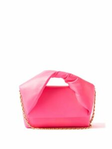 Redvalentino - Metallic Check Wool Blend A Line Skirt - Womens - Navy Multi