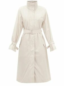 Erdem - Yusra Apsley Print Silk Chiffon Dress - Womens - White Print