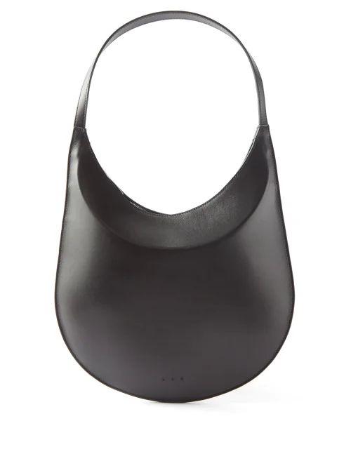 Christopher Kane - Crystal Embellished Plissé Crepe Skirt - Womens - Black