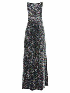 Galvan - Stardust Sequinned Maxi Dress - Womens - Gold