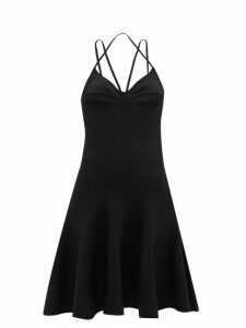 Balmain - Double Breasted Velvet Blazer - Womens - Navy