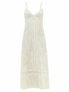 Altuzarra - Sylvia Tile Print Silk Crepe Dress - Womens - Blue Print