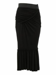Dolce & Gabbana - Fishtail Midi Skirt - Womens - Black