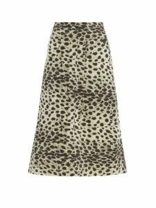 Sea - Leo Leopard Print Cotton Skirt - Womens - Leopard